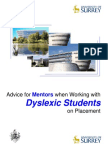Advice 4 Mentor Working With Dyslexia