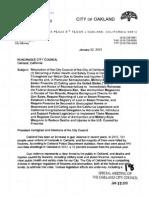 Oakland's Assault Weapons Ban Resolution, 2013