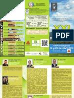 Triptico XXI Congreso Multidisciplinario Colegio Odontologos de Nuevo Leon