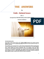 Brochure - NEW REVELATION - Divine answers to faith-related issues - ed. 1