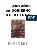 Eckart - Cuatro años de gobierno de Hitler