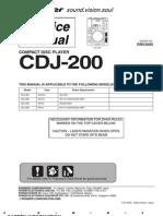 CDJ 200 Service Manual
