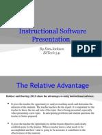 Instructional Software Presentation