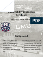 Sustainability Leadership Certificate - LMU Extension