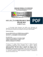 Sociologia e Direito Edital 2013