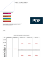 Semester-1- Time Table February 2013 Sec a & B(3)