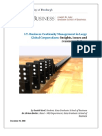 Business Continuity Management in Large Global Corporations