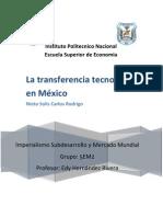 La transferencia tecnológica en México