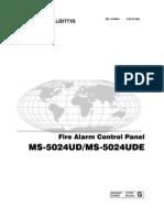 Manual MS-5024UD Control Alarma Incendio