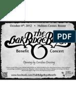 Oak Ridge Boys Benefit Concert Flyer