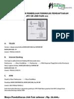 Petunjuk Teknis Pembelian Formulir Pendaftaran Jpc Ub Job Fair 212