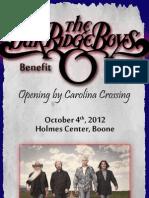 Oak Ridge Boys Benefit Concert Brochure