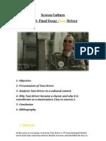4110 Final Essay Taxi Driver