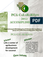 2012 PHILIPPINE COCONUT AUTHORITY REGION IV-A ACCOMPLISHMENT REPORT