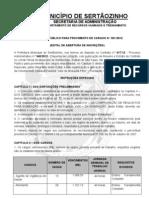 Edital de Abertura de Inscrições nº 001-2012 (15 de Fevereiro de 2012)