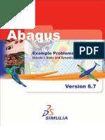 Abaqus Example Problems Manual  Vol1