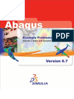 Abaqus Example Problems Manual  Vol1