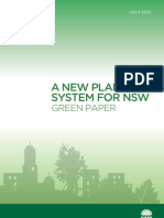 A New Planning System for NSW - Green Paper 2012