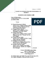 2008 Navi Mumbai Panvel Bomb Blast Case Sessions Court Judgement