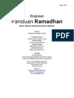 Buku Panduan Ramadhan 1433 h - Ringkasan