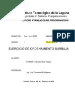TAP-P01a Ejercicio de Ordenamiento Burbuja