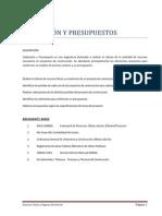 CUBICACIÓN Y PRESUPUESTOS