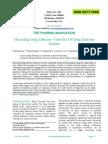 Microchip Drug Delivery -New Era Of Drug Delivery System