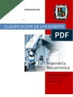 Clasificacion de Robots