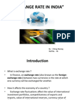Exchange Rate in India Ppt