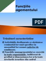 Capitolul I - Functii Ale Managementului