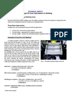 Example of Cost Calculation in Welding | Welding