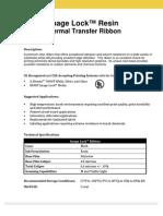 Image Lock Resin Ribbon Spec Sheet