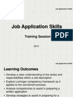 Training Powerpoint - Job Application Skills