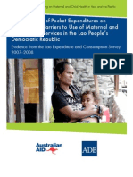 Impact of Out-of-Pocket Expenditures on Families and Barriers to Use of Maternal and Child Health Services in the Lao People's Democratic Republic