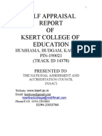 Self Appraisal Report KSERT College