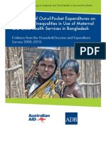 The Impact of Out-of-Pocket Expenditures on Poverty and Inequalities in Use of Maternal and Child Health Services in Bangladesh