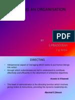 Directing an Organisation