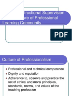 Building Instructional Supervision on the Culture of Professional