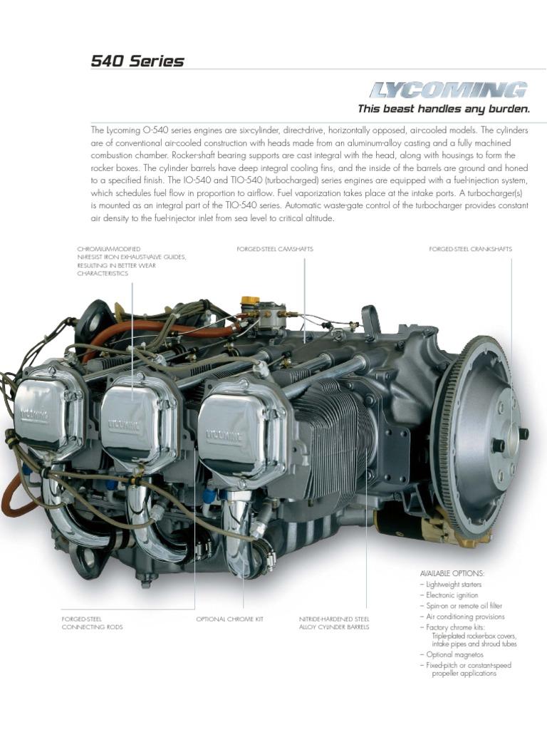 Motor Lycoming Io 540 Ac Cylinder Engine