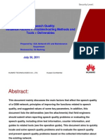 110857247 3 GSM Speech Quality Influence Factors Troubleshooting Methods and Tools Deliverables 20110730