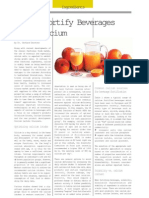 How to Fortify Beverages With Calcium Oct03