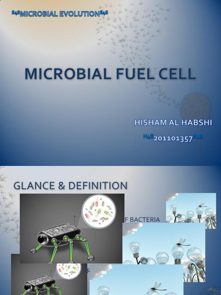 MICROBIAL FUEL CELL Hisham Al Habshi DhofarUniversity