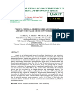 Physico-chemical Studies on the Adsorption of Atrazin on Locally Mined Montmorillonites