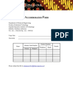 Accommodation Form