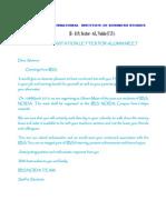 Invitation Letter for Alumni Meet