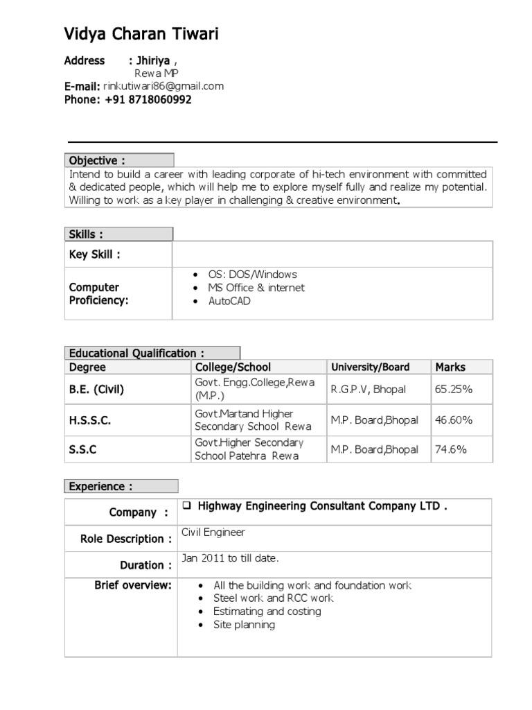 vct resume