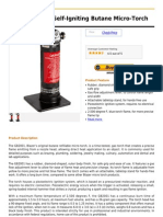 Blazer GB2001 Self-Igniting Butane Micro-Torch