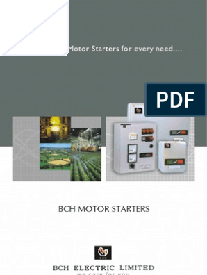 Bch Range Of Motor Starters Eng 57216 Relay Electrical Engineering