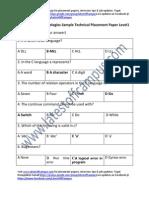 Tavant Technologies Sample Technical Placement Paper Level1