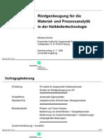 XRD in der Halbleitertechnologie / XRD in semiconductor technology